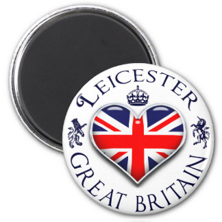 I Love Leicester 2 Inch Round Magnet
