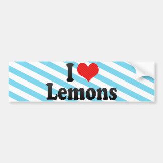 I Love Lemons Bumper Sticker