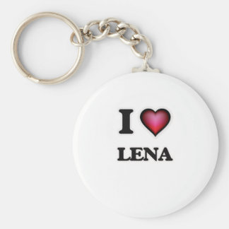 I Love Lena Basic Round Button Keychain