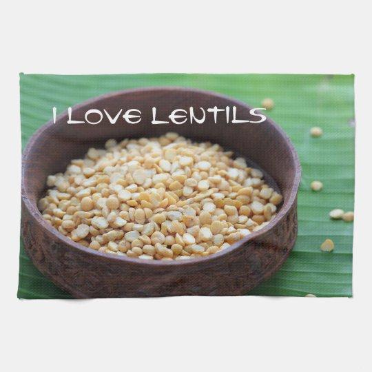 I love lentils kitchen towel