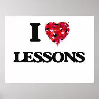 I Love Lessons Poster