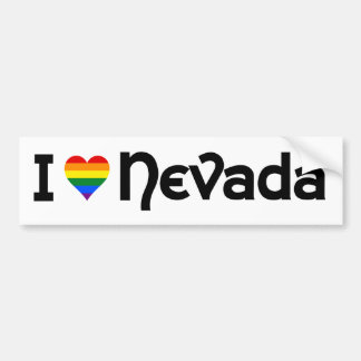 I love LGBT Nevada state Bumper Sticker