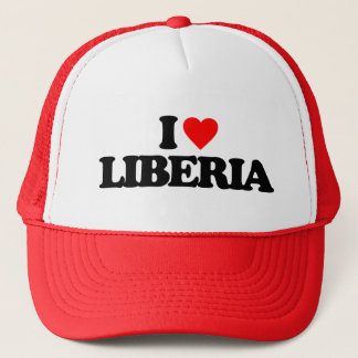 I LOVE LIBERIA TRUCKER HAT