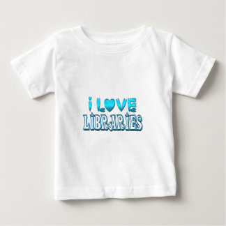 I Love Libraries Baby T-Shirt