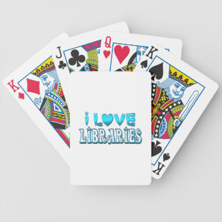 I Love Libraries Bicycle Playing Cards