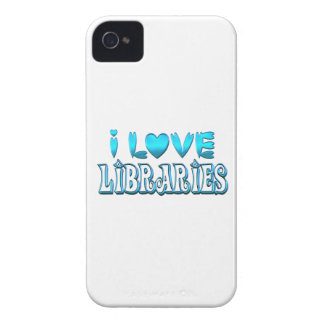 I Love Libraries iPhone 4 Covers