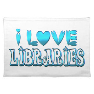 I Love Libraries Placemat