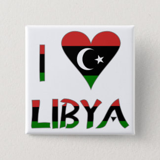 I Love Libya 2 Inch Square Button