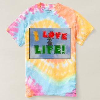 """I Love Life!"" Pastel Tie-Dye t-shirt"