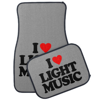 I LOVE LIGHT MUSIC CAR LINERS