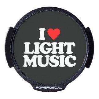 I LOVE LIGHT MUSIC LED AUTO DECAL