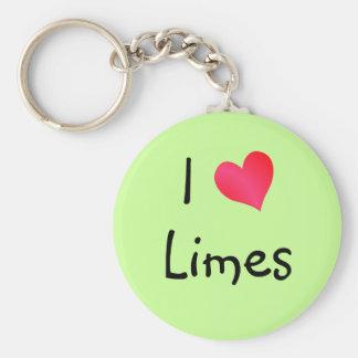 I Love Limes Keychain