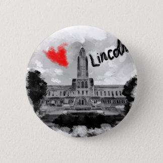 I love Lincoln 2 Inch Round Button