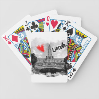 I love Lincoln Bicycle Playing Cards
