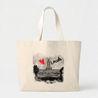 I love Lincoln Large Tote Bag