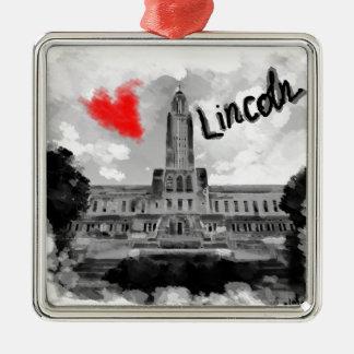 I love Lincoln Metal Ornament