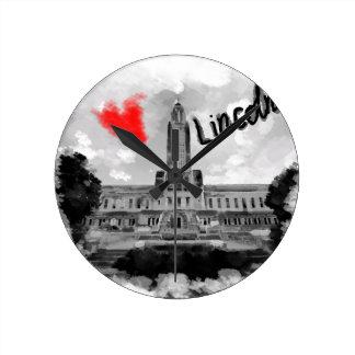 I love Lincoln Round Clock