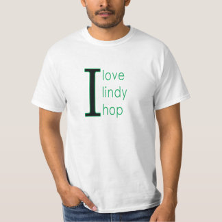 I love lindy hop black and green tee