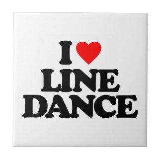I LOVE LINE DANCE CERAMIC TILE
