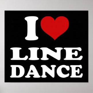I Love Line Dance Print