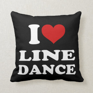 I Love Line Dance Throw Pillow