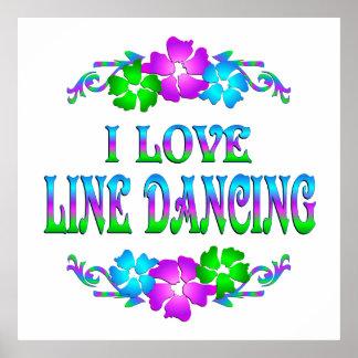 I LOVE LINE DANCING POSTER
