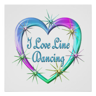 I Love Line Dancing Posters
