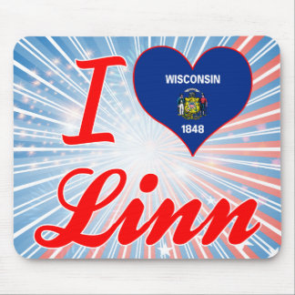I Love Linn, Wisconsin Mouse Pads