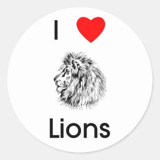 I love lions Sticker