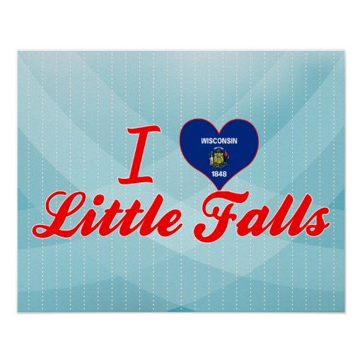 I Love Little Falls, Wisconsin Print