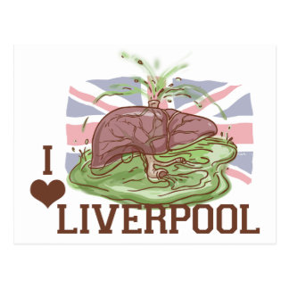 I Love Liverpool Humor Postcard