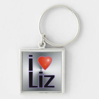 i love Liz Keychain