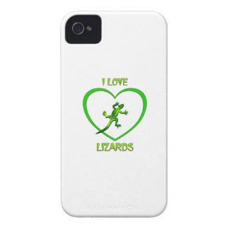 I Love Lizards iPhone 4 Cases