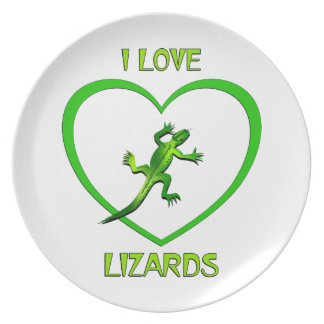 I Love Lizards Plate