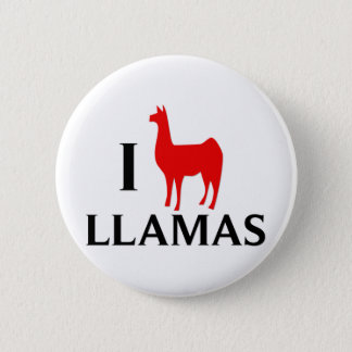I Love Llamas 2 Inch Round Button