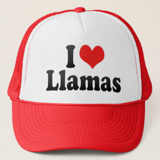 I Love Llamas Trucker Hat
