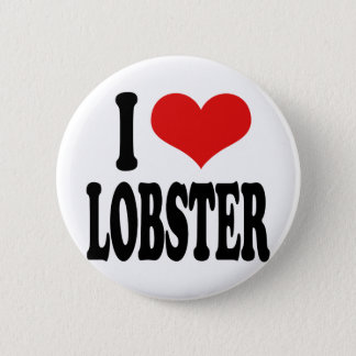 I Love Lobster 2 Inch Round Button