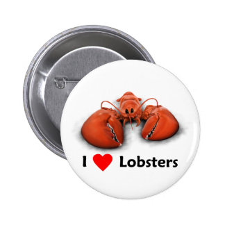 I love Lobsters 2 Inch Round Button