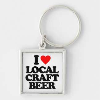 I LOVE LOCAL CRAFT BEER KEY CHAINS