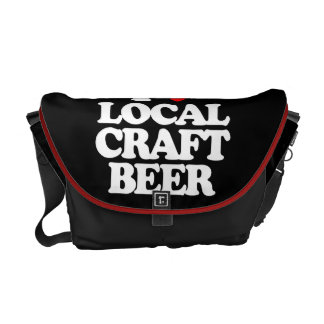 I LOVE LOCAL CRAFT BEER MESSENGER BAGS
