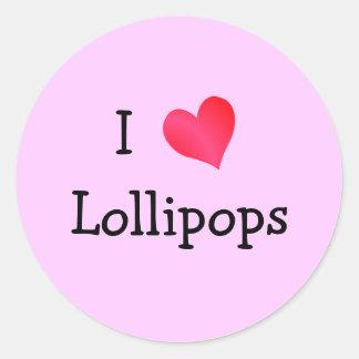 I Love Lollipops Classic Round Sticker