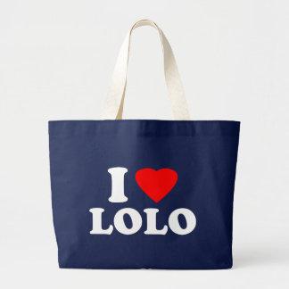 I Love Lolo Jumbo Tote Bag