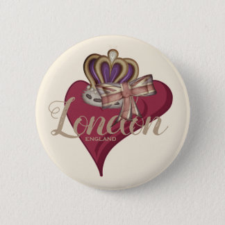 I Love London 2 Inch Round Button