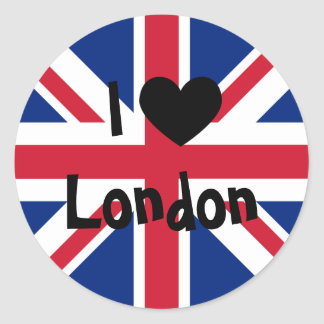 I Love London Classic Round Sticker