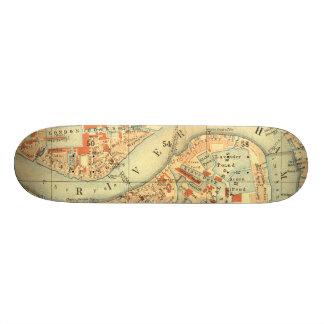 I Love London - Old Vintage Map River Thames Skate Decks