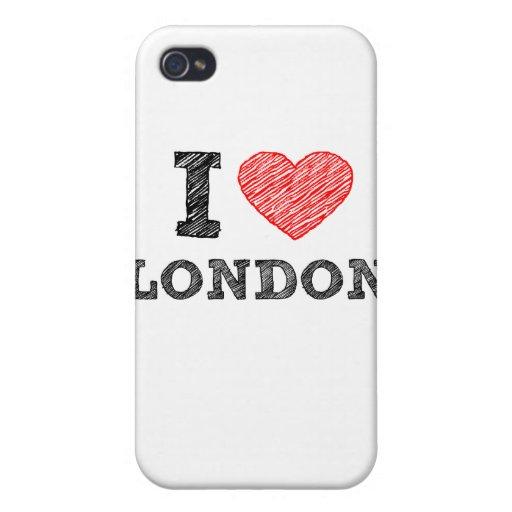 I Love London sketch souvenir iPhone 4/4S Case