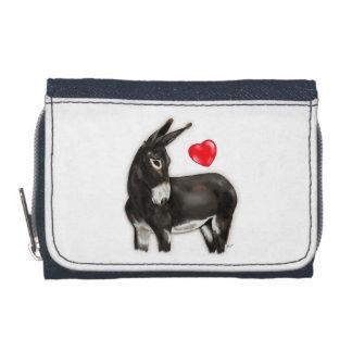 I Love Longears Demure Donkey Wallets