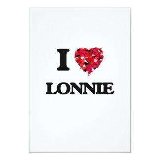 "I Love Lonnie 3.5"" X 5"" Invitation Card"