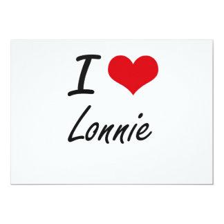 "I Love Lonnie 5"" X 7"" Invitation Card"