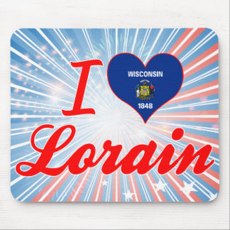 I Love Lorain, Wisconsin Mousepads